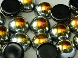 Dome Beads 12 x 7 Jet Marea (per 5)