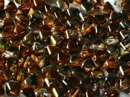 Bicone Beads 6 mm Crystal Magic Copper (per 50)