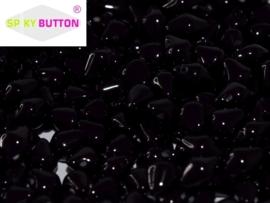 Spiky Button® 4,5 x 6,5 mm Jet (per 22)