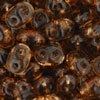 Superduo 2.5x5mm Smoky Topaz (per 10 gram)