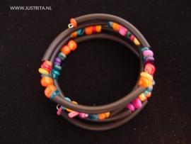Armb17 Rubber met schelp multicolor