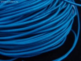Echt lederen koord zeeblauw 2mm