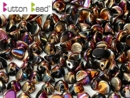 Button Bead® 4mm Jet Full Sliperit (per 20)