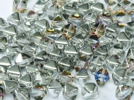 Bicone Beads 6 mm Crystal Volcano (per 50)