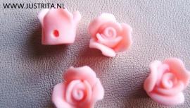 Roosje roze per 10 stuks