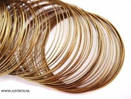 Memory wire 5.5 cm antiek brons
