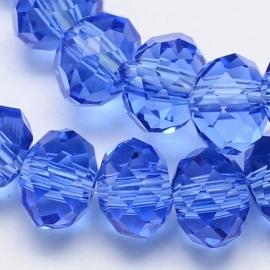 rondellen 3 x 4 mm Transparent Medium Blue