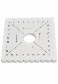 Vlechtschijf vierkant