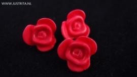 Resin roosje donker roze 14.5 mm (10 stuks)