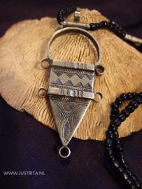 T 50 Toeareg zilveren amulet / Tuareg silver amulet