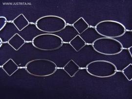 Ovale en vierkante schakelketting