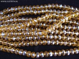 Rondellen 6 x 8 mm Champagne/goud