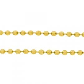 Ball chain goudkleur 1.5 mm
