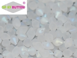 Spiky Button® 4,5 x 6,5 mm Crystal Full AB Matted (per 14)