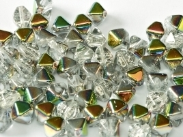Bicone Beads 6 mm Crystal Vitail (per 50)