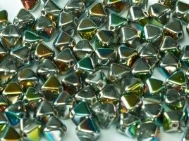 Bicone Beads 6 mm Crystal Vitrail Full (per 50)