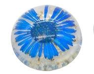 Resin cabochon droogbloem blauw