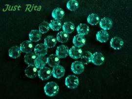 Kristallen rondel 6 mm