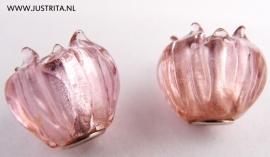 GKR09 Roze glazen tulp