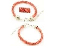 BJA001 Armband met rode kraaltjes