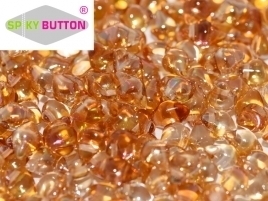Spiky Button® 4,5 x 6,5 mm Crystal Apricot Medium (per 18)