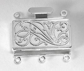 Box slot zilverkleur meerrijig