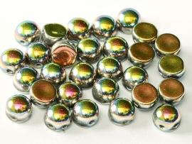 2-Hole Cabochon 6 mm Crystal Vitrail Full (per 8)
