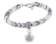 BJA008 Armband zwart/wit/grijs