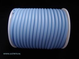 Rubber koord 4 mm hol Blauw