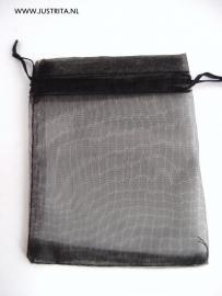 Zwart organza kadotasje (5 stuks)