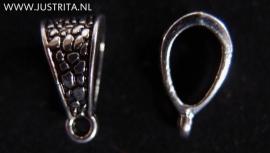 Hanger oog Tibetaans zilver !4 x 7.5 x 8.5 mm