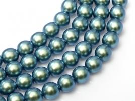 streng Glasparels rond 4mm Petrol/Blue