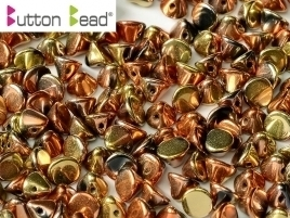 Button Bead® 4mm Jet California Gold Rush (per 18)