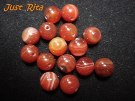 Rode Sardonyx Agate 8 mm