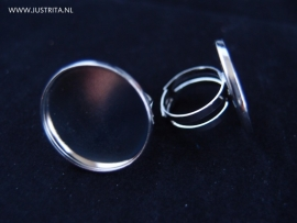Ring met plakvlak / cabochonsetting 23 mm