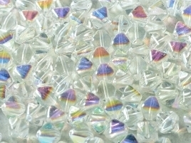 Bicone Beads 6 mm Crystal AB (per 50)