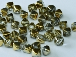 Bicone Beads 6 mm Crystal Amber (per 50)