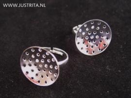 Ring met zeefje (20mm) zilver