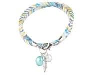 BJA004 Wrap armband groenblauw/wit