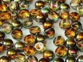 2-hole Cabochon 6 mm Crystal Magic Copper (per 6)