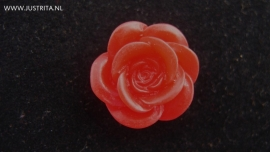 Resin cabochon roos rood 18mm