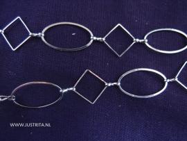 Schakelketting vierkantjes en ovalen