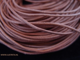 Echt lederen koord naturelbruin 1.5mm