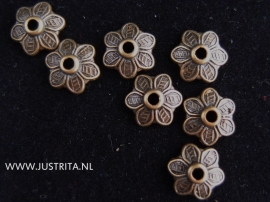 Kralenkapje antiek brons 10.5 mm (20 stuks)