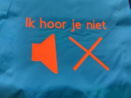 Lichtblauw met neon oranje