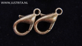 Karabijnsluiting antiek brons