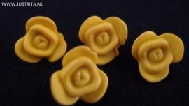 Resin roosje okergeel 14.5 mm (10 stuks)