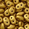 Superduo 2.5x5mm Matte Metallic Goldenrod (per 10 gram)