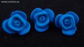 Resin roosje blauw 14.5 mm (10 stuks)