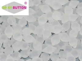 Spiky Button® 4,5 x 6,5 mm Crystal Matted (per 22)